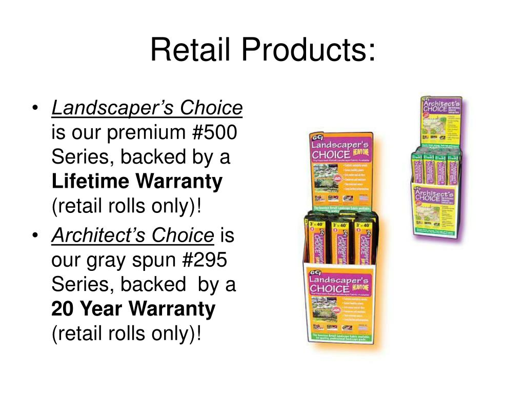 Retail Products:
