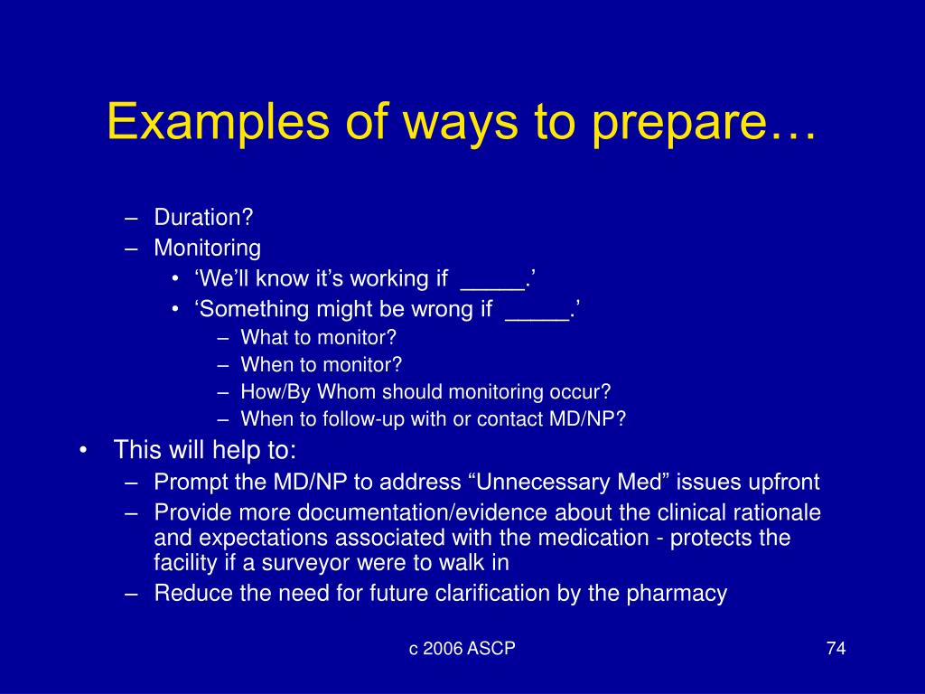 Examples of ways to prepare…