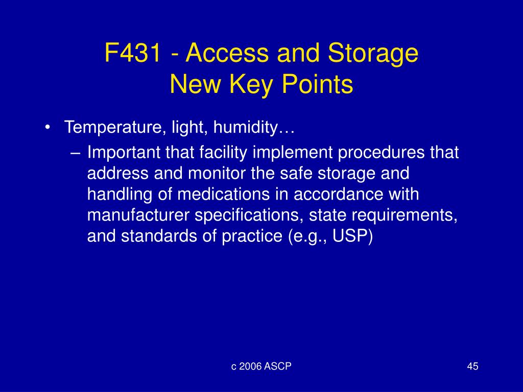 F431 - Access and Storage