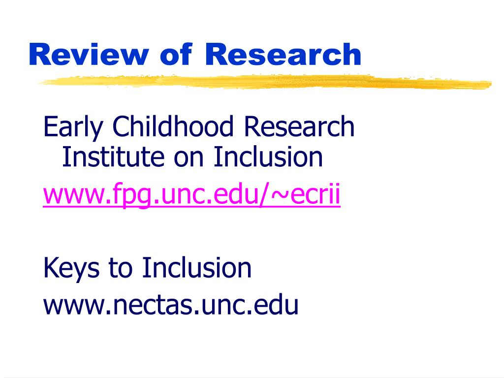 Early Childhood Research Institute on Inclusion