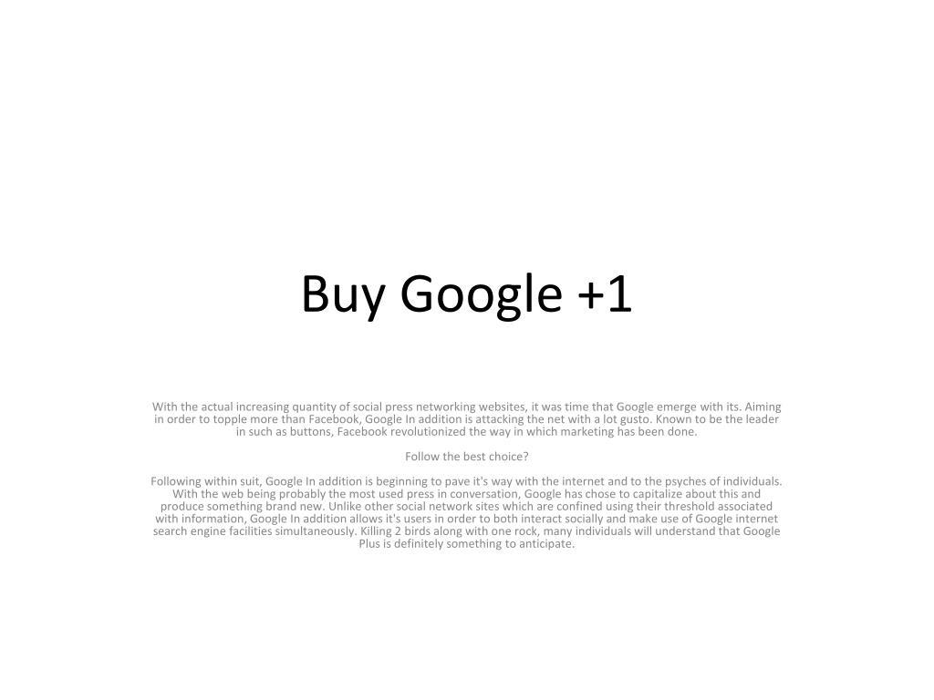 Buy Google +1
