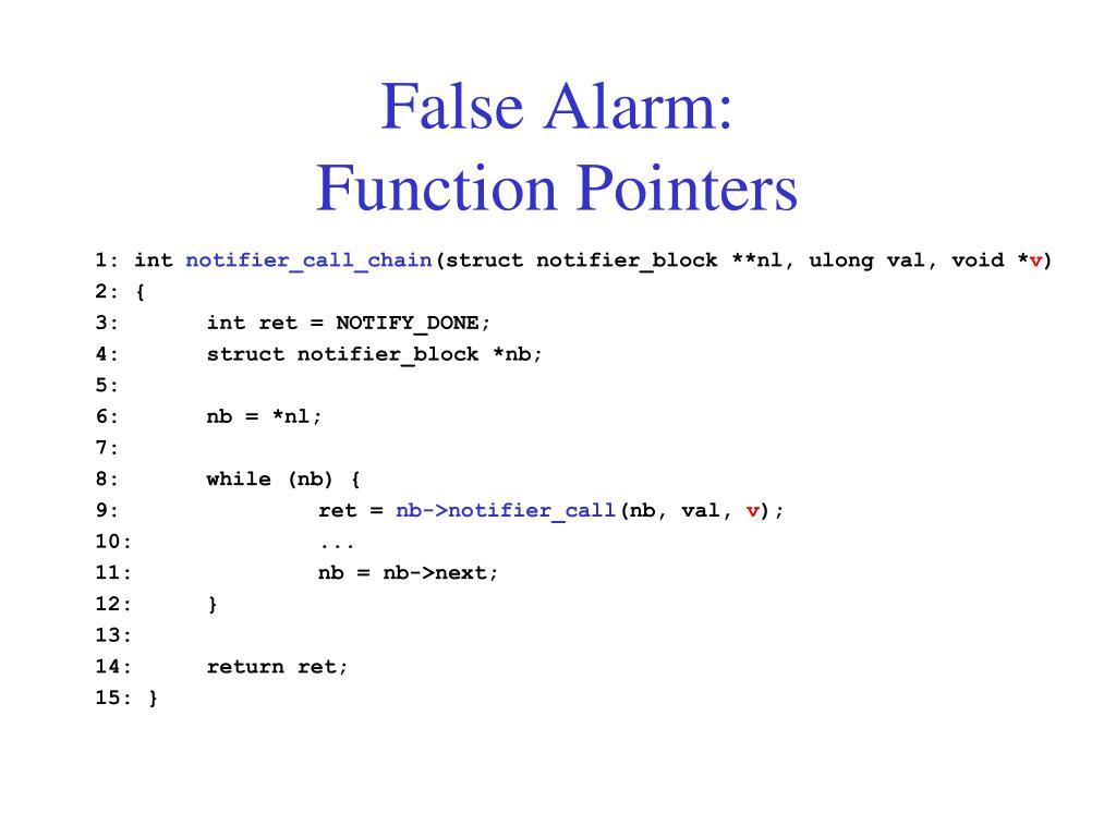 False Alarm: