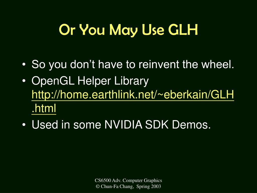Or You May Use GLH