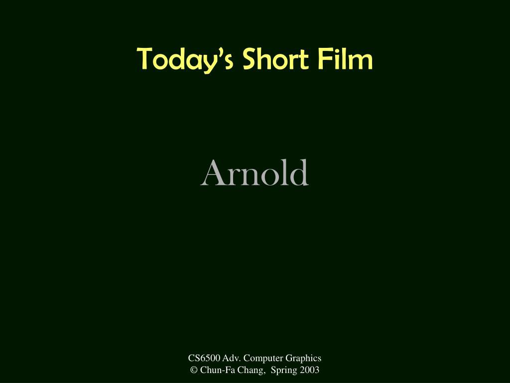 Today's Short Film