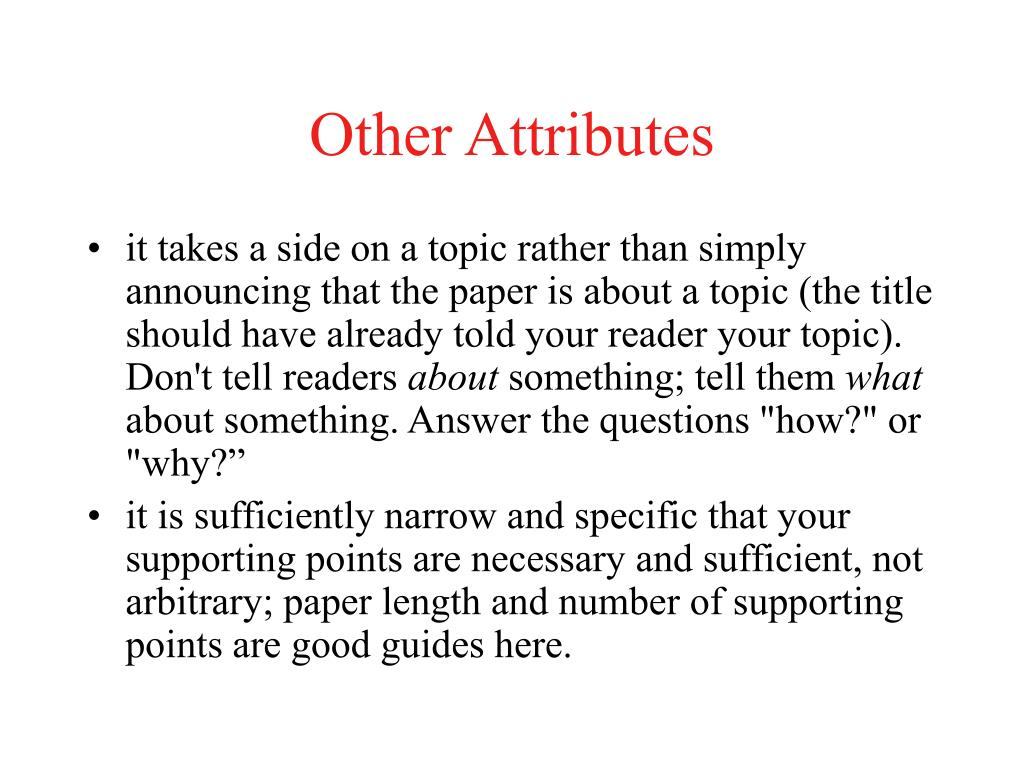 Other Attributes