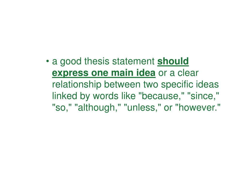 a good thesis statement