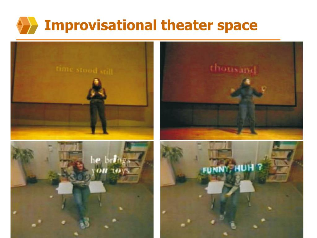 Improvisational theater space