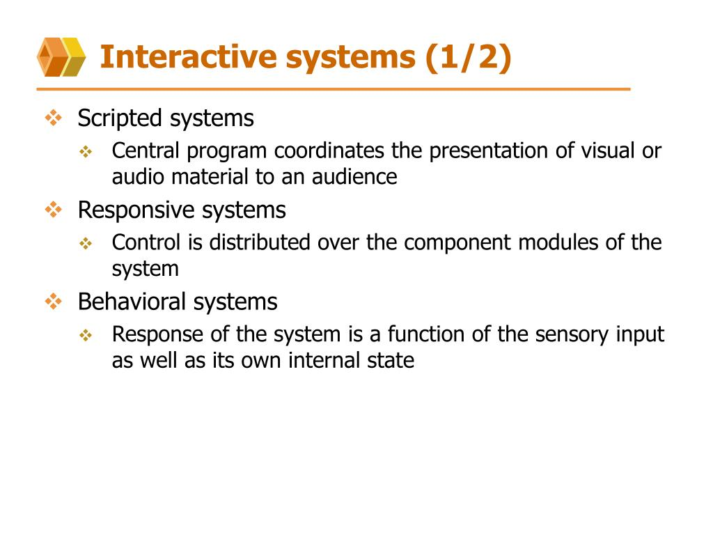 Interactive systems (1/2)