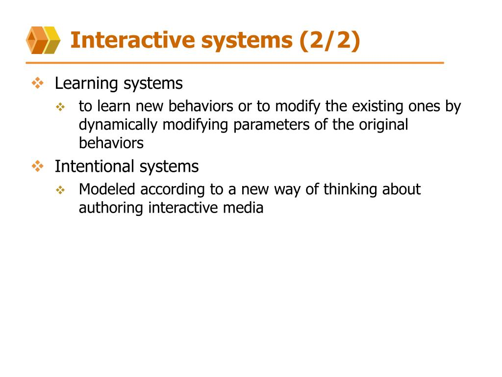 Interactive systems (2/2)