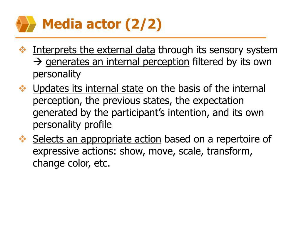 Media actor (2/2)