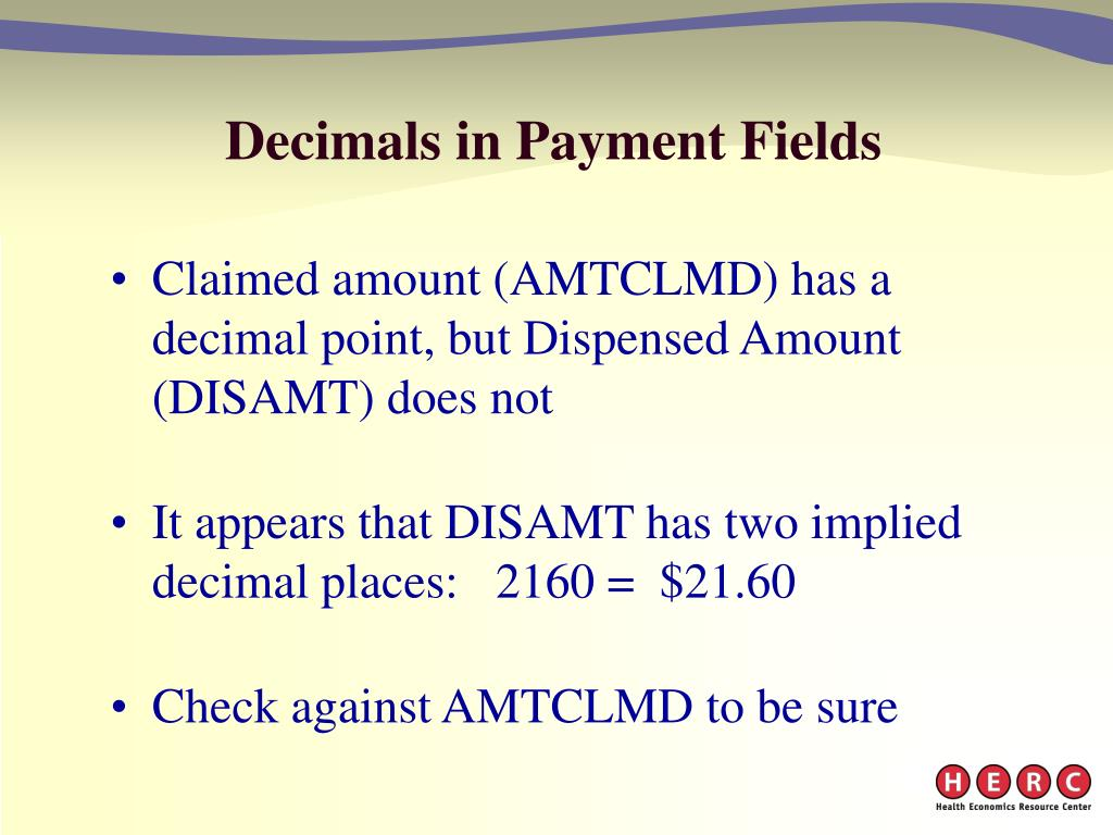 Decimals in Payment Fields
