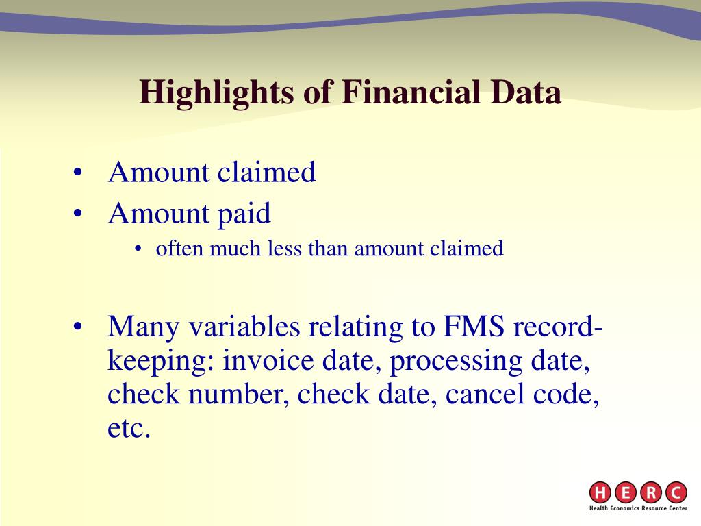 Highlights of Financial Data