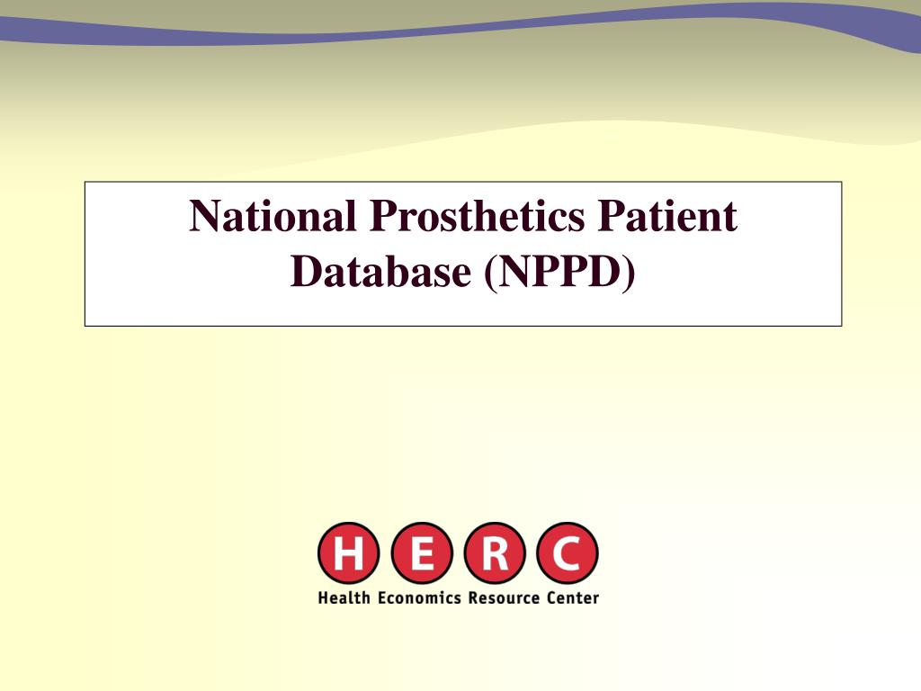 National Prosthetics Patient Database (NPPD)