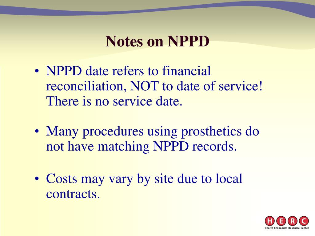 Notes on NPPD