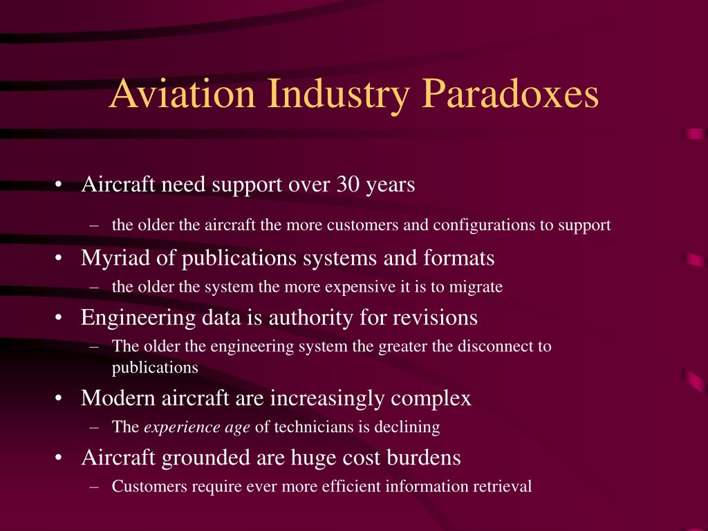 Aviation Industry Paradoxes