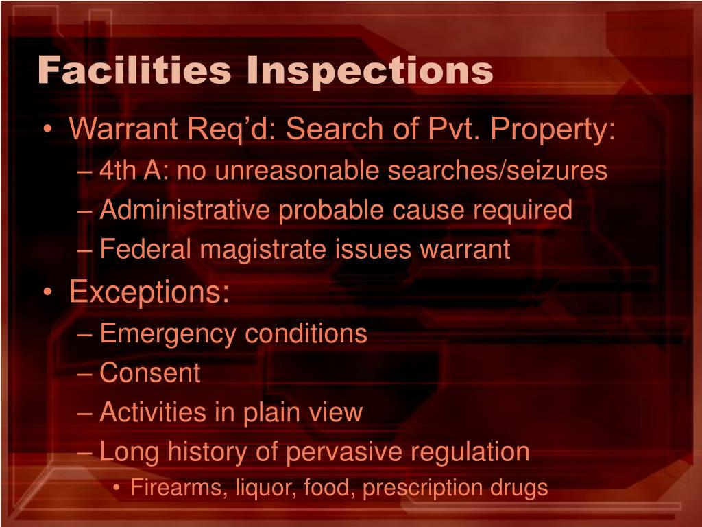 Facilities Inspections
