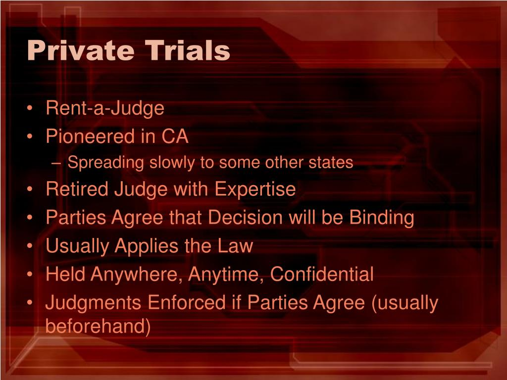 Private Trials