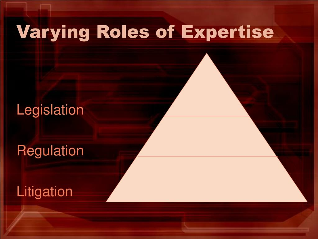 Varying Roles of Expertise