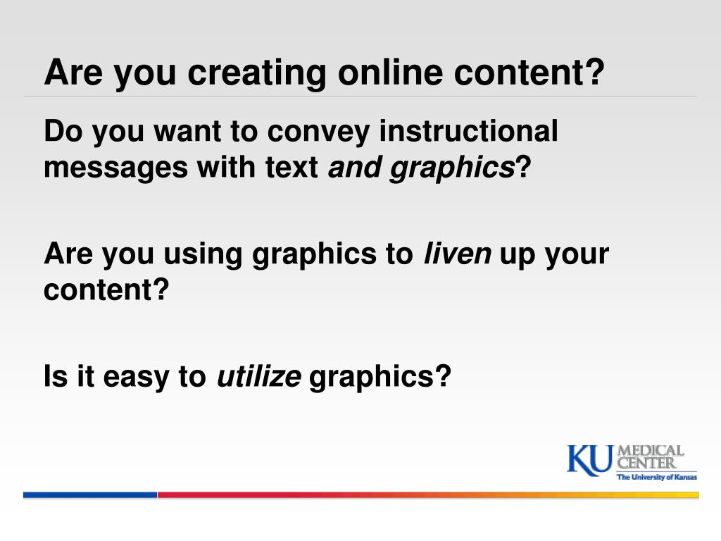 Are you creating online content?