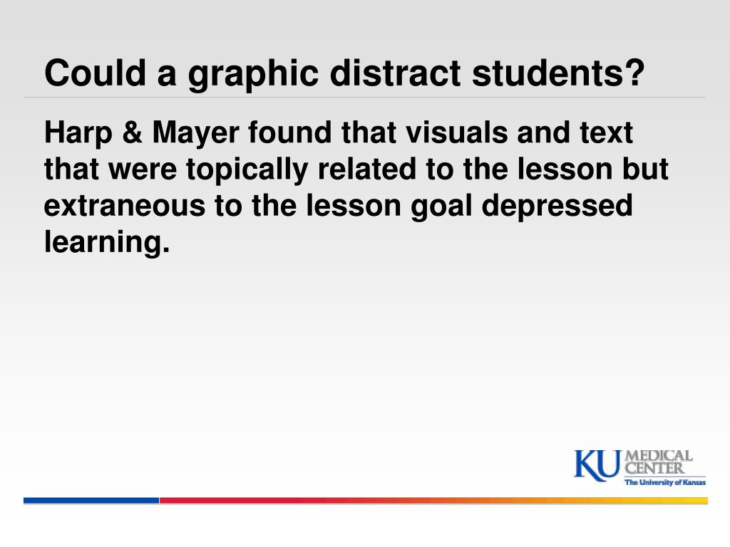 Could a graphic distract students?