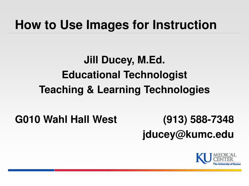 How to Use Images for Instruction