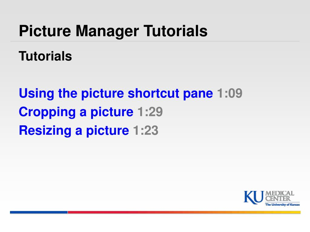 Picture Manager Tutorials