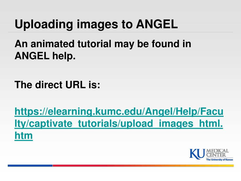 Uploading images to ANGEL