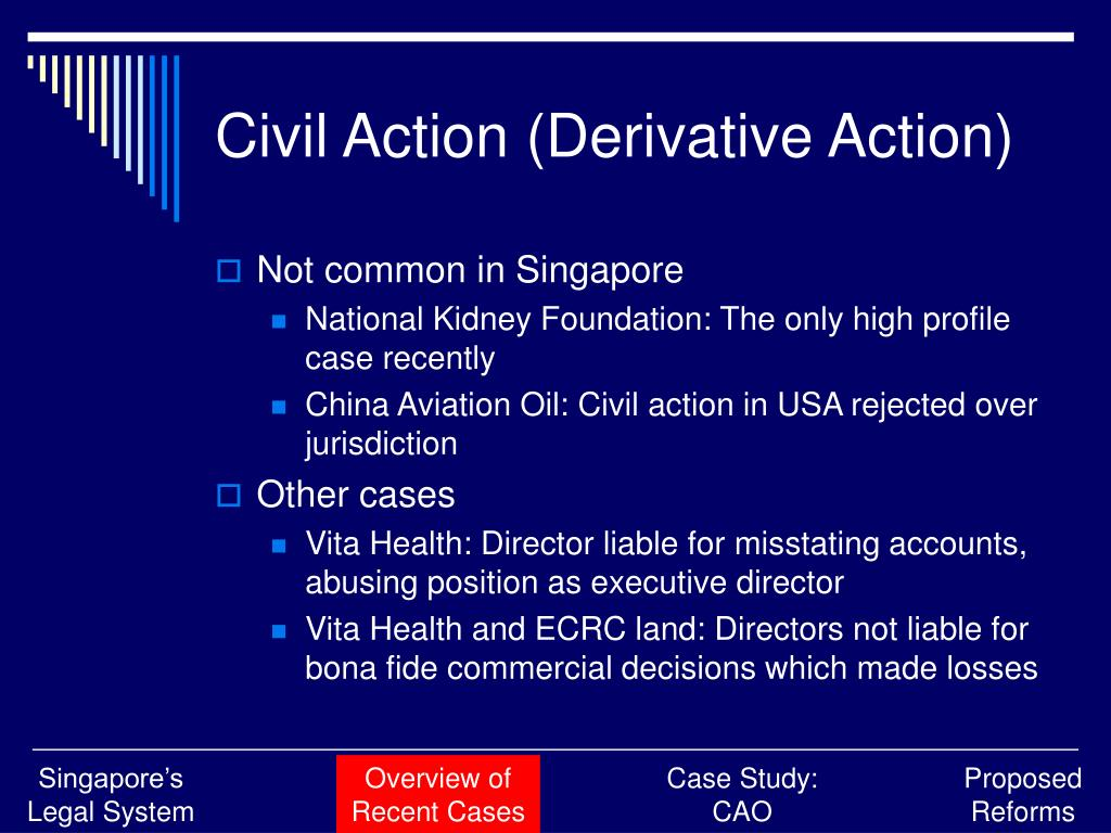 Civil Action (Derivative Action)