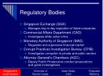 regulatory bodies