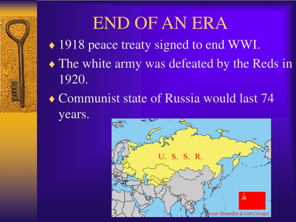 1918 peace treaty signed to end WWI.