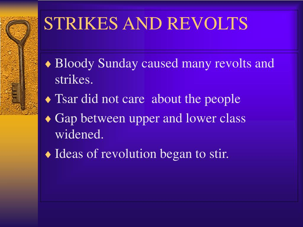 Bloody Sunday caused many revolts and strikes.