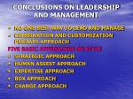 conclusions on leadership and management