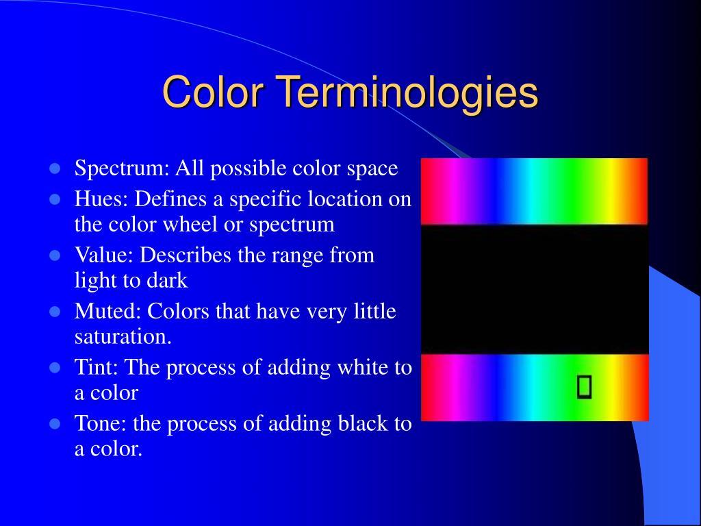 Color Terminologies
