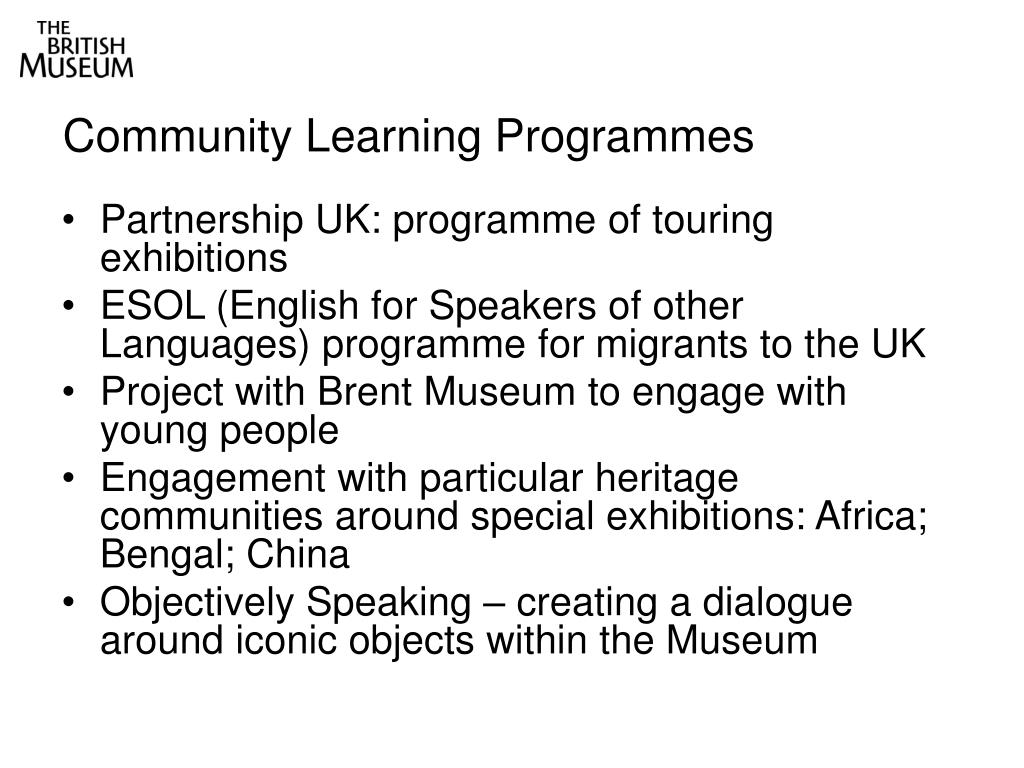 Community Learning Programmes