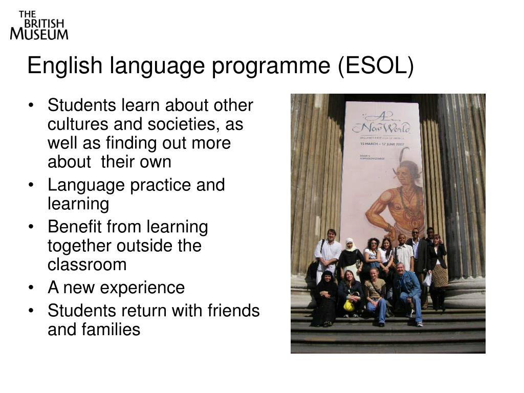English language programme (ESOL)