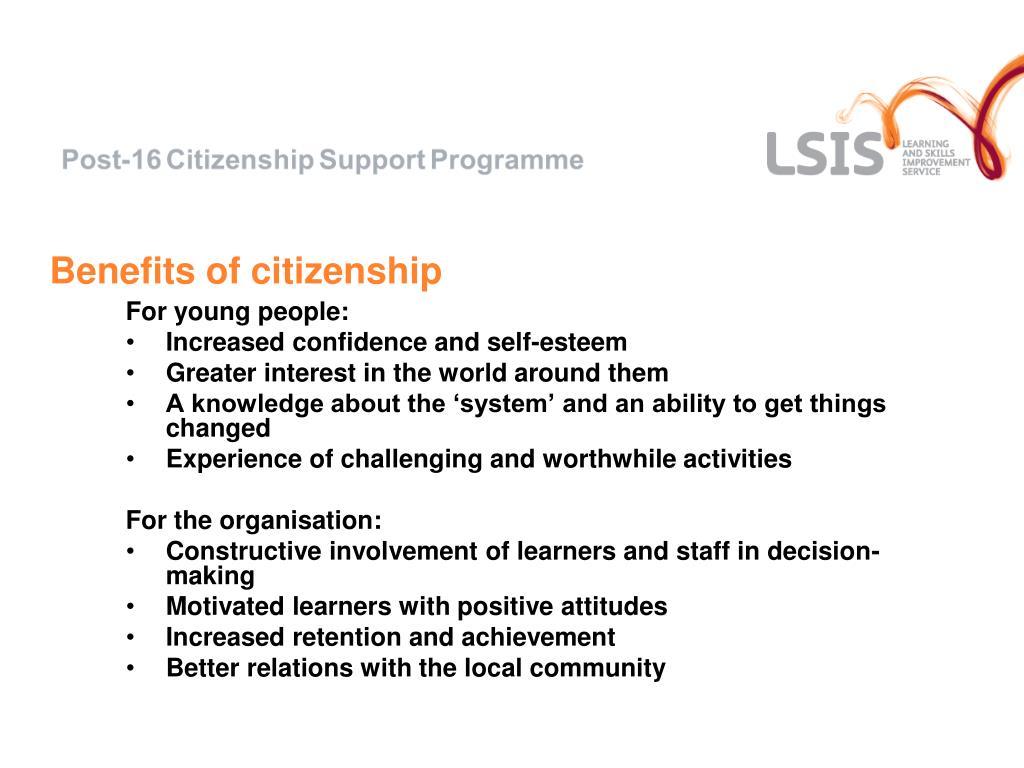 Benefits of citizenship