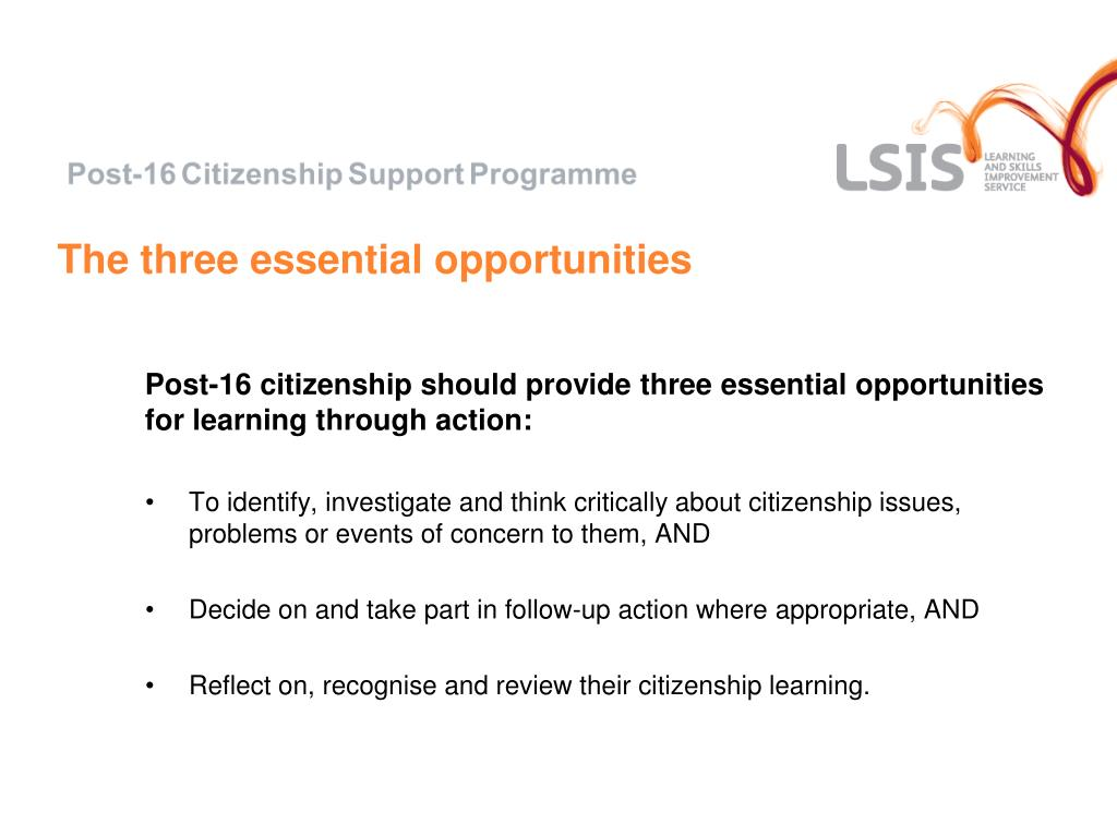The three essential opportunities