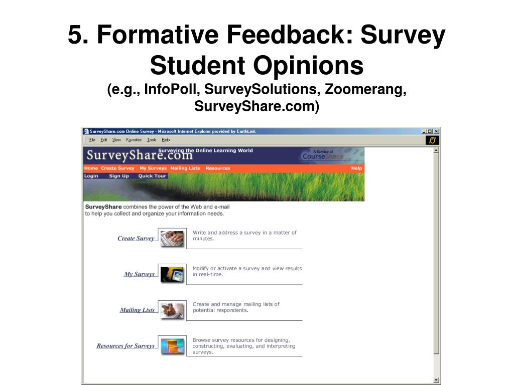 5. Formative Feedback: Survey Student Opinions