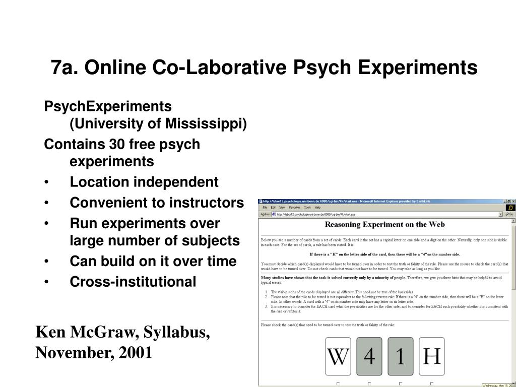 7a. Online Co-Laborative Psych Experiments