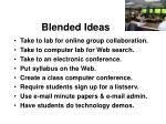 blended ideas