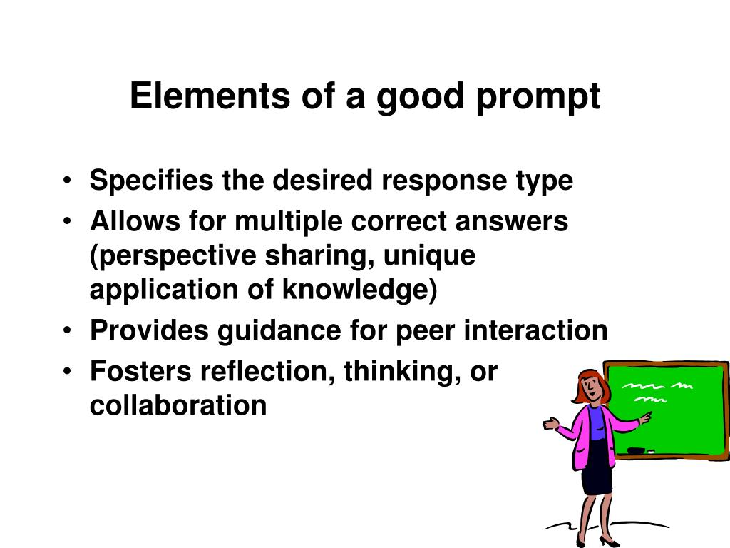 Elements of a good prompt