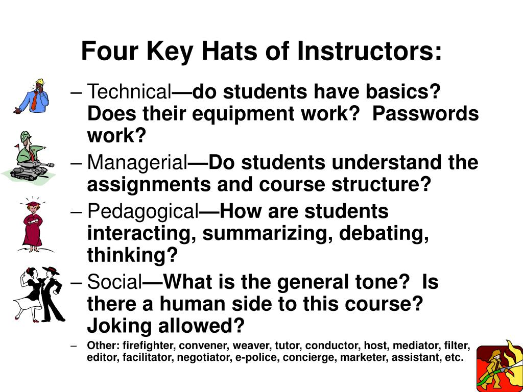 Four Key Hats of Instructors: