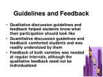 guidelines and feedback
