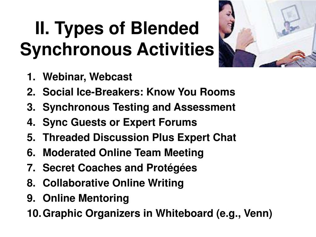 II. Types of Blended Synchronous Activities