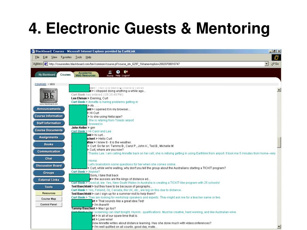 4. Electronic Guests & Mentoring
