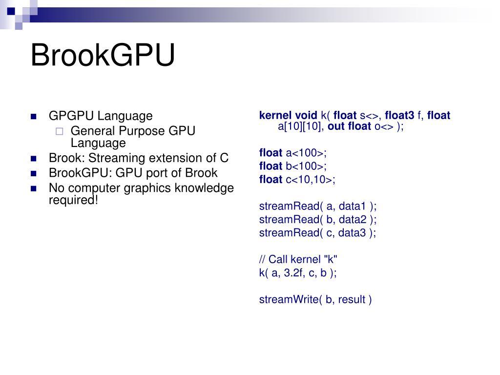 GPGPU Language