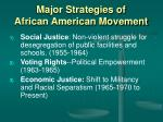 major strategies of african american movement