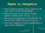 rights vs obligations
