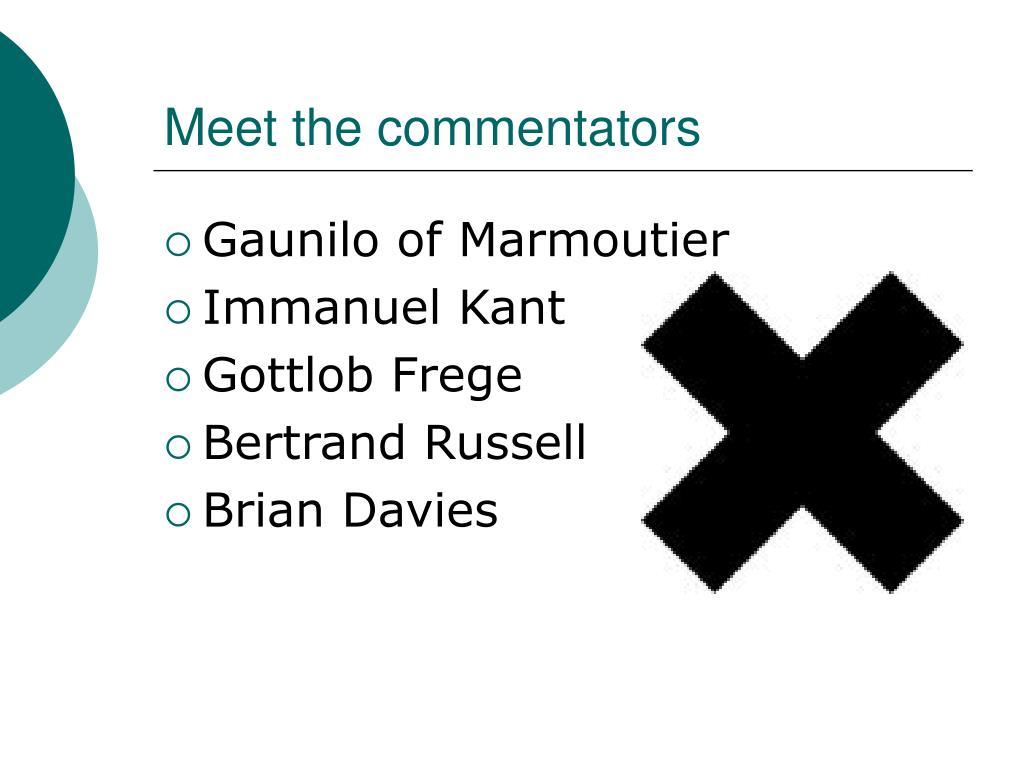 Meet the commentators