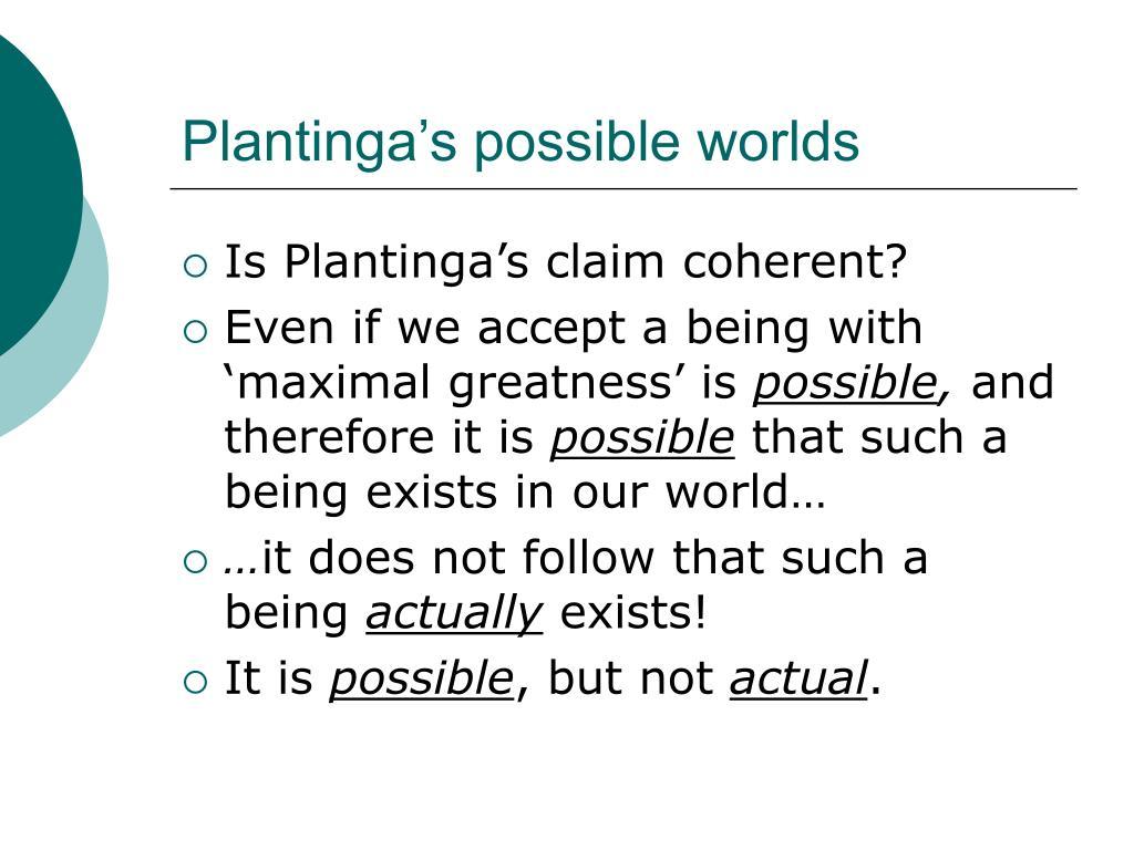 Plantinga's possible worlds